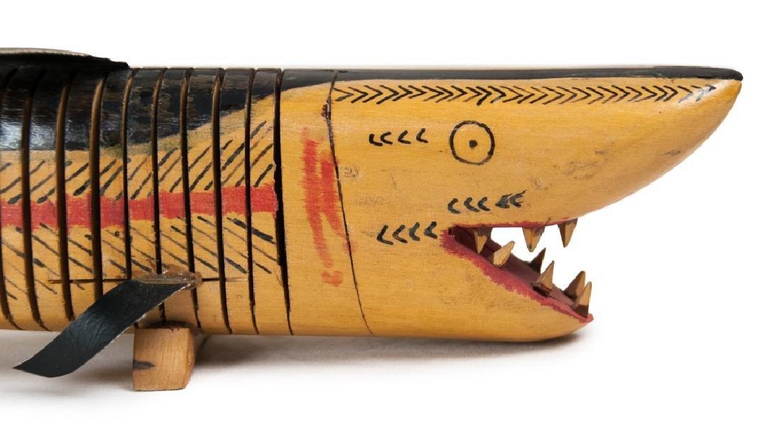 CARVED WOOD SHARK - 2