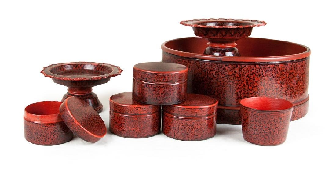 BURMESE LACQUER CONTAINERS