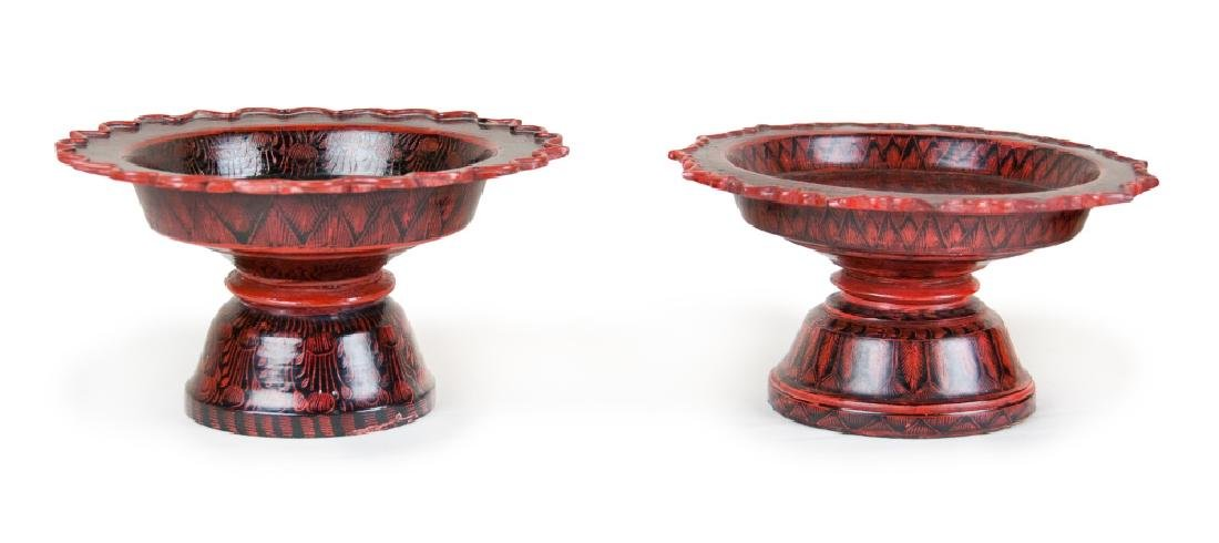 BURMESE LACQUER CONTAINERS - 2