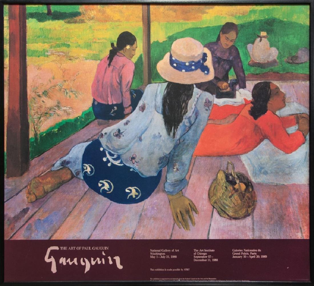 THE ART OF PAULGAUGUIN POSTER. 1988-89