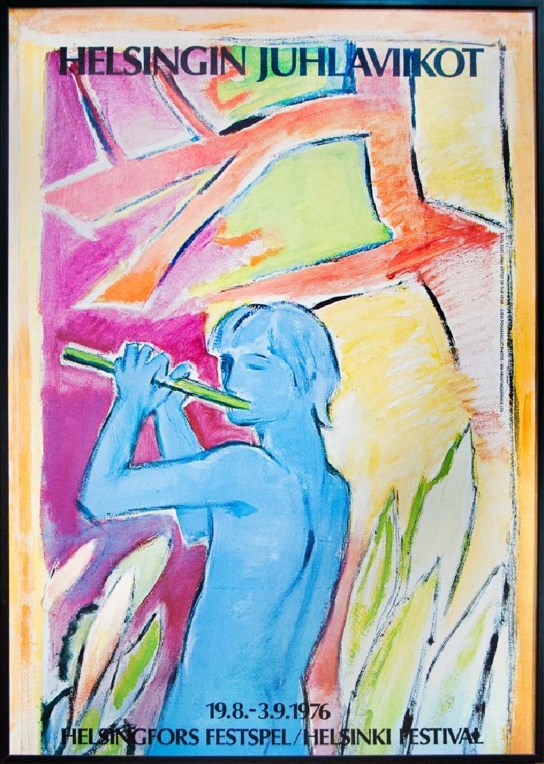 1976 HELSINKI FESTIVAL POSTER