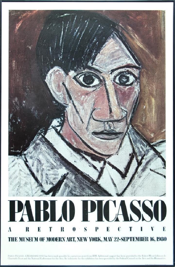 FRAMED POSTER, PABLO PICASSO: A RESTROSPECTIVE