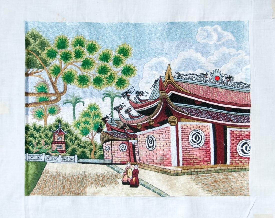 EMBROIDERY OF TEMPLE GROUNDS
