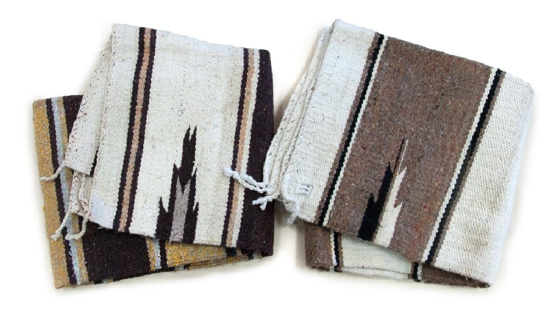 PAIR OF WOVEN MEXICAN BLANKETS
