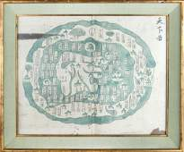 QING DYNASTY MAP PAINTING