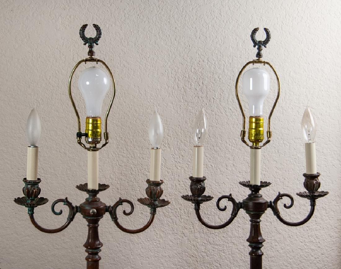 PAIR OF FLOOR LAMPS - 2