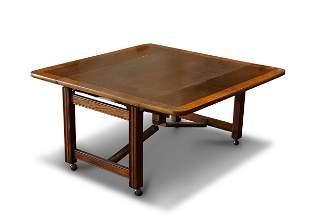 BAKER MAHOGANY DROP LEAF HIGH-LOW TABLE
