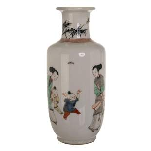 CHINESE FAMILLE ROSE FIGURAL VASE