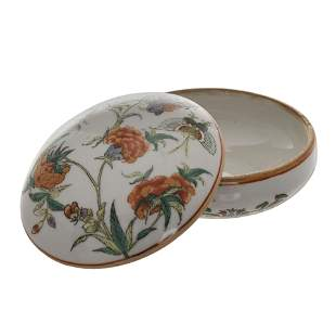 CHINESE FAMILLE ROSE BUTTERFLY PASTE BOX