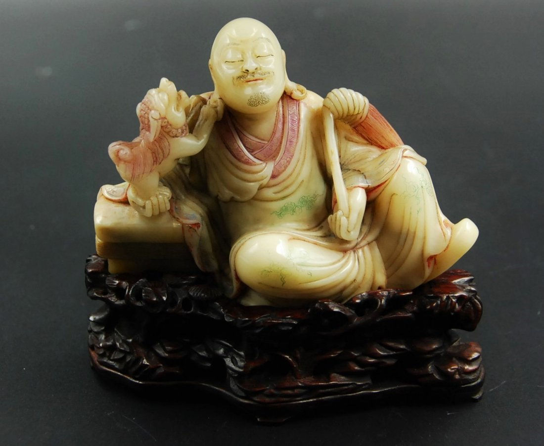 SOAPSTONE ARHAT CARVING