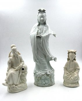 Blanc De Chine Porcelain Statue, Blanc De Chine