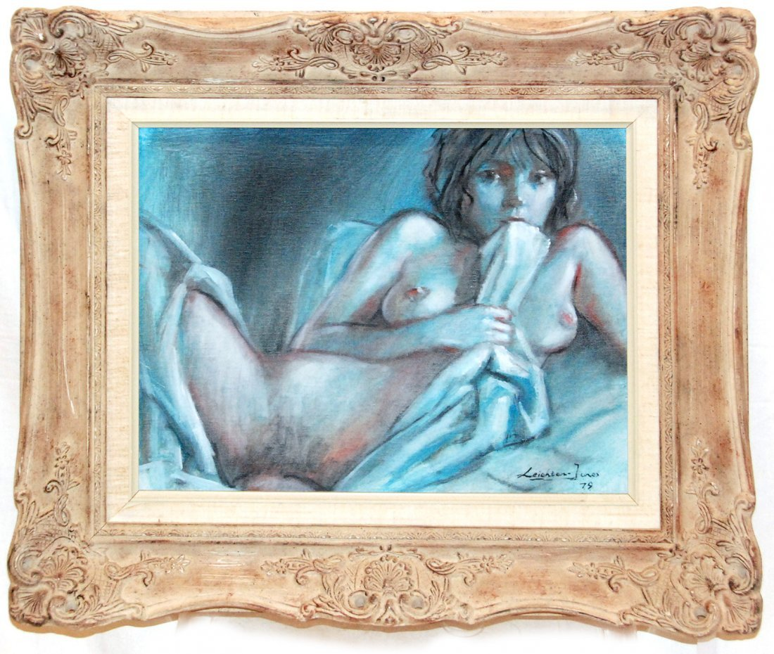 NUDE OIL PAINTING, BY BARRY LEIGHTON-JONES