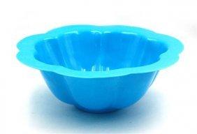 Imperial Blue Glass Flower Bowl