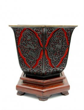 Black And Red Planter