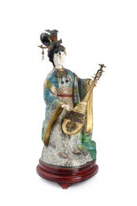 Cloisonne Figurine Of A Lady