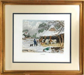 Winterscape Painted Print