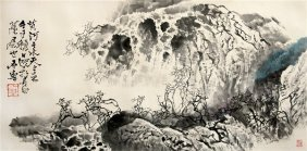 Mountainous Landscape Scroll Painting