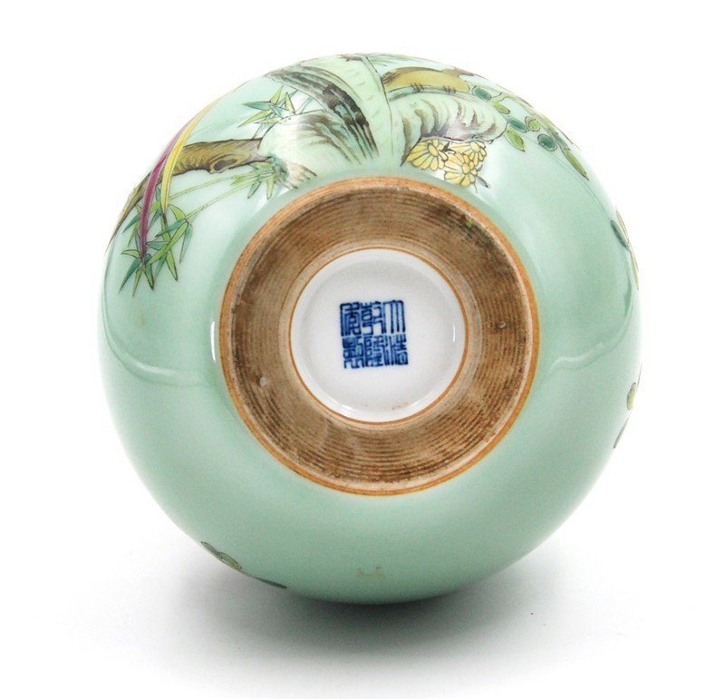 BIRDS AND FLOWERS DOUBLE GOURD VASE - 3