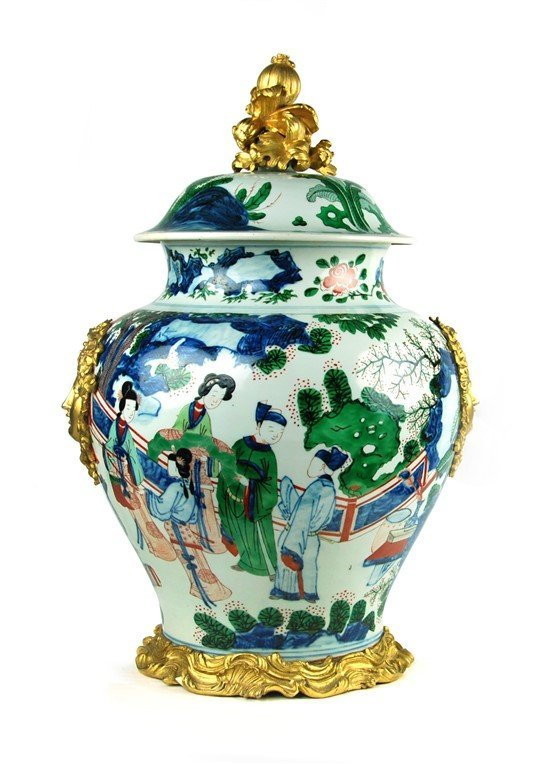 QING DYNASTY KANGXI PERIOD FRENCH EXPORT GENERAL JAR