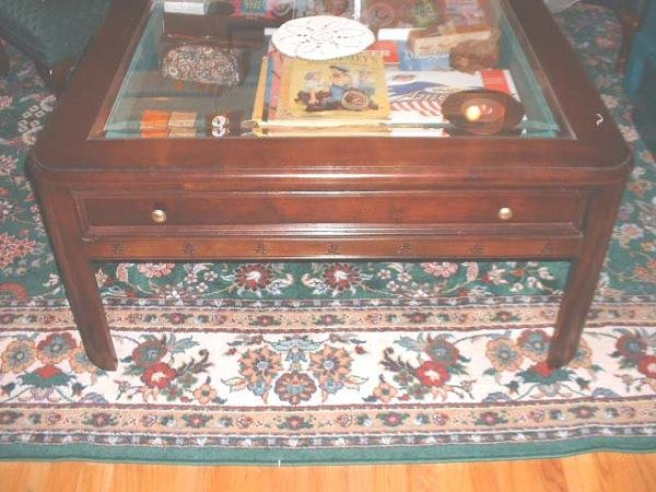 "5: Broyhill Rectangular Glass ""Mickey"" Table"