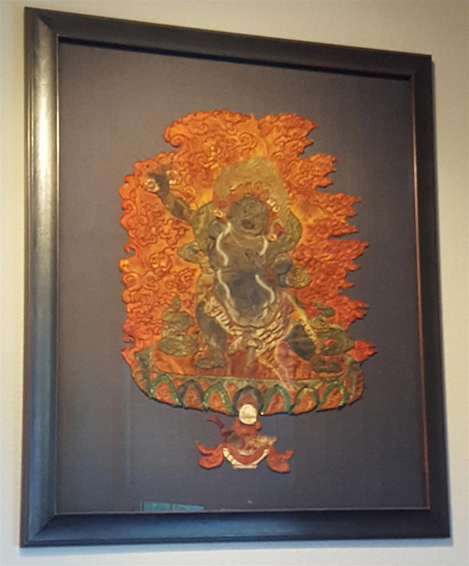 Framed Silk Thangka