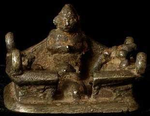 Hindu shrine -- the whole family: