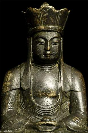 Korean (?) Antique Bronze Buddha.