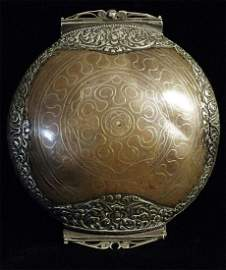 Very beautiful inlaid mixed metal antique Sri Lankan