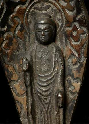 Antique Japanese Bronze Buddha. Stands 7 5/8 inches