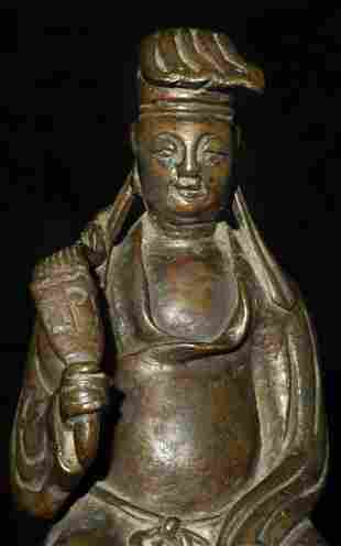 Antique Chinese bronze figure. Well cast, with a very