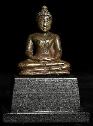 Superb antique Thai solid cast bronze Buddha. Appears