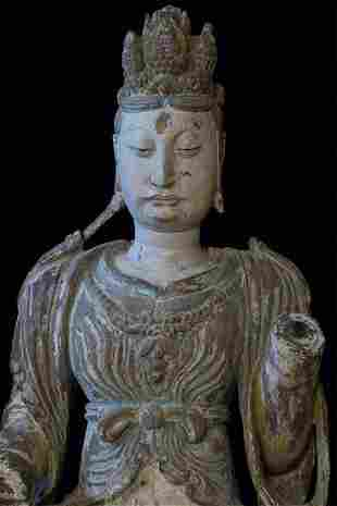 A large and very early Chinese Bodhisattva from a