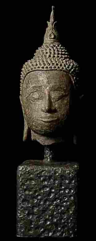 Bronze Laotian Buddha Head