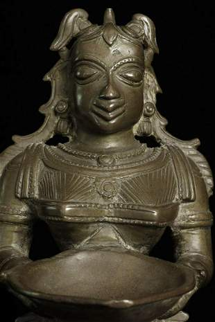 Antique/Old Indian Bronze Female Figure in the form of