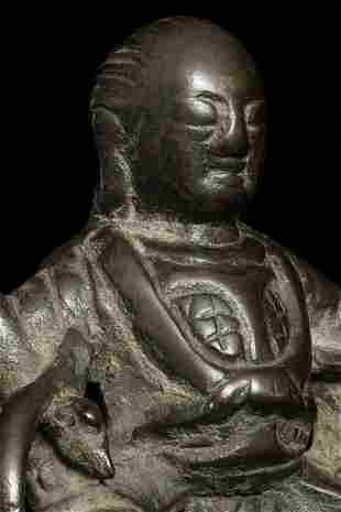 Chinese Ming Bronze. Loss to back as seen in the
