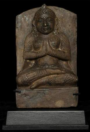 Antique Nepalese or Indian Stone Figure. Radiates a