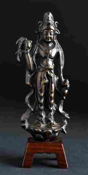 Bronze Chinese Bodhisattva of Compassion