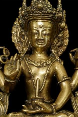 Antique Nepalese Bodhisattva. Exceptional example of