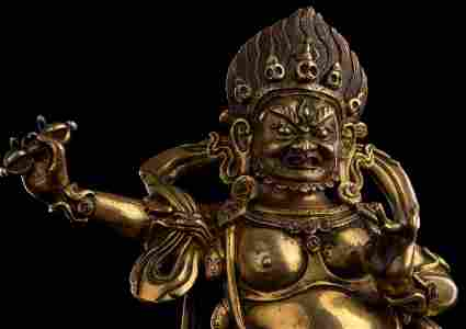 18thC Tibetan Fierce Deity. Fine Like Jewelry