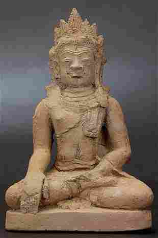 BUDDHA ,13th Century Thailand , Terra Cotta, 4-7/8