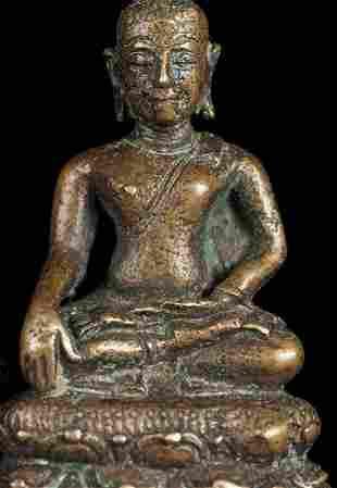 Lovely 15thC antique miniature Thai Chiang Sen Bronze
