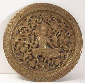 Interesting Indian figure sculpted into a coppper plate