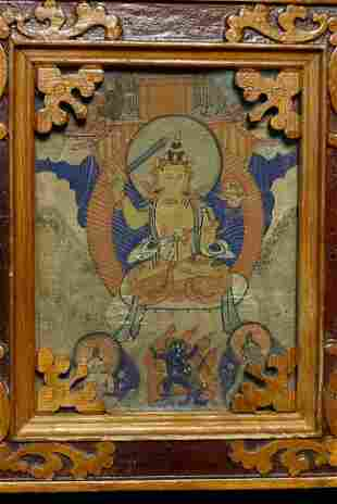 Old Mongolian Thangka.