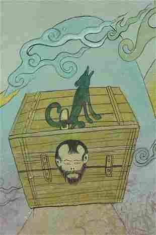 Mongolian Painting- modern.