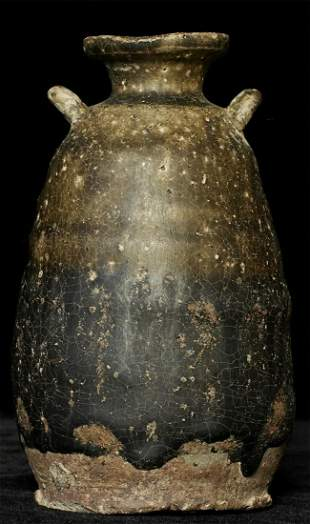 Beautiful 14/15thC Thai Sawankalok Vase collected in