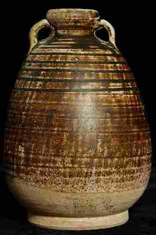 Beautiful large 14/15thC Thai Sawankalok Vase collected