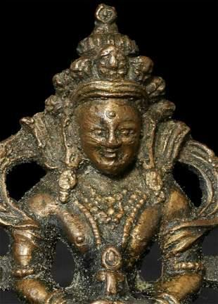 Antique Tibetan Bronze Bodhisattva of Long Life.