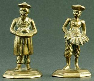 """Servants with offerings from the Colonial Period. 3.25"""""""