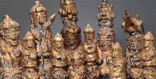 """An extremely uncommon group of 11 antique """"Lotus"""