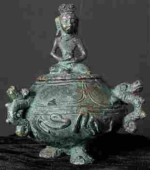 17thC Javanese. Sits 4.25 inches tall.